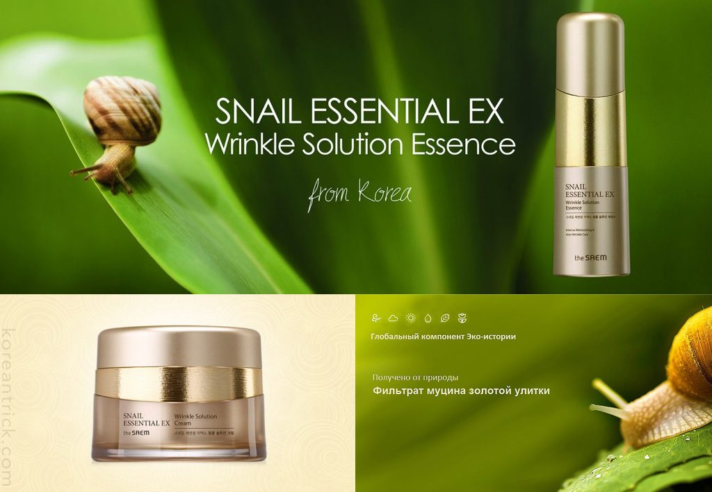 Anti-aging snail line