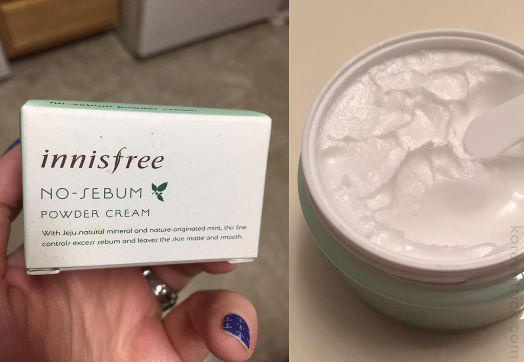 Innisfree No sebum powder cream review
