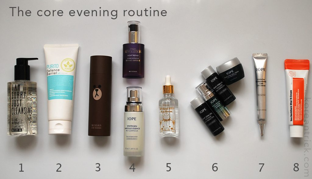 The core evening routine