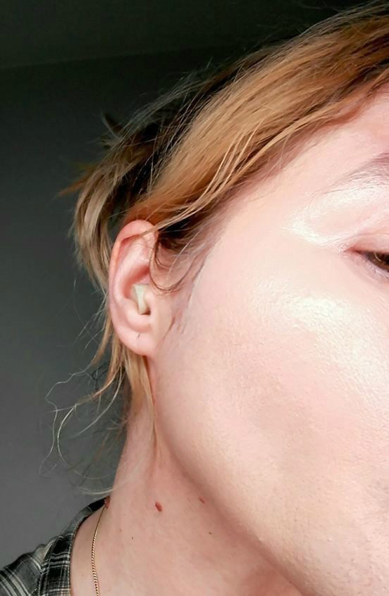 with liquid patches and BB cream