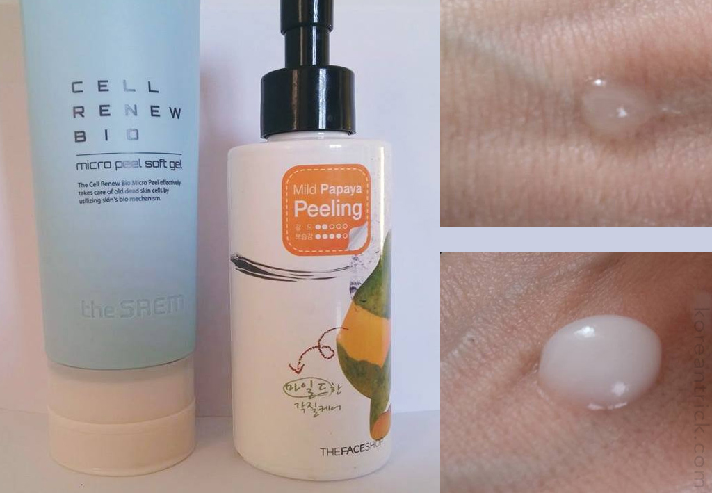 Two Korean Peeling Gels – Comparison