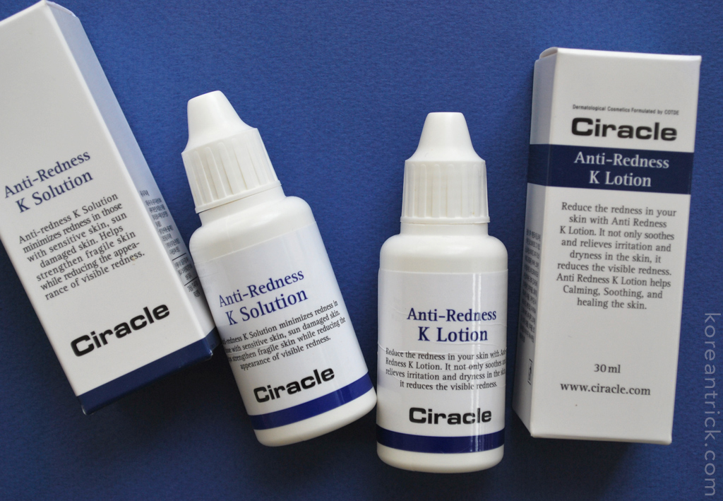 Ciracle Anti-Redness K rosacea cosmetics review