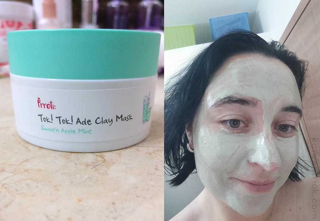 PRRETI Tok Tok Ade Clay Mask Apple Mint Review