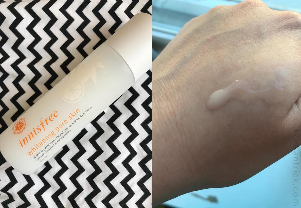 Innisfree Whitening pore skin review