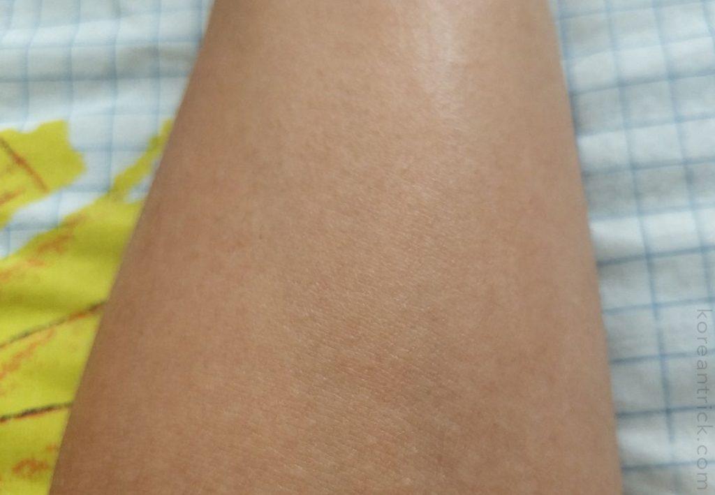 cream on the skin